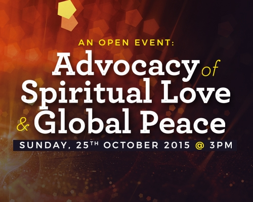 Upcoming Event: Advocacy of Spiritual Love