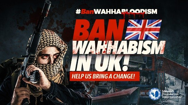 Ban Wahhabism in the UK and USA