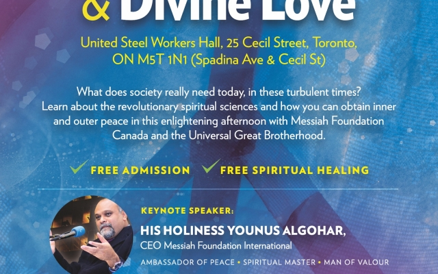 Announcement: Global Peace Through Spiritual Sciences and Divine Love Programme