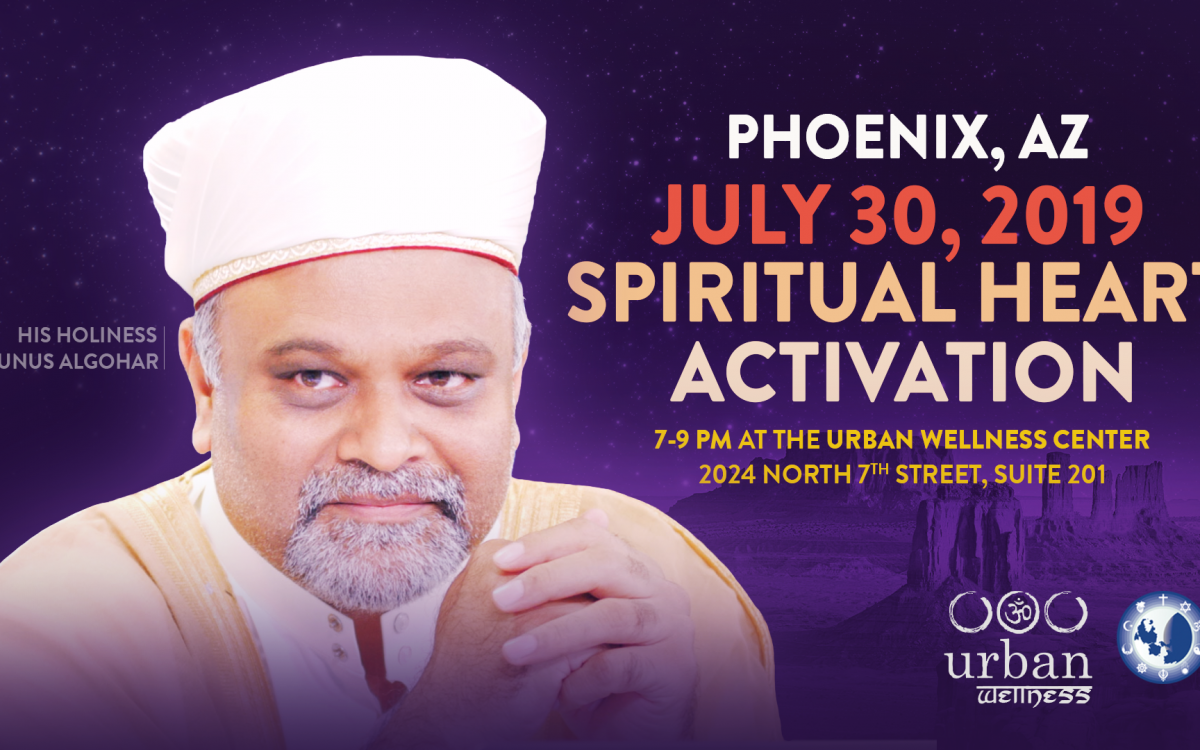 30 July: Urban Wellness Center Spiritual Heart Activation Ceremony